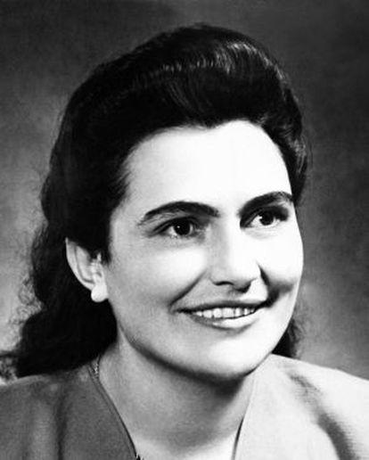 La viuda de Tito en una fotografía tomada en 1952.