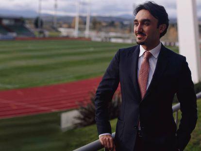 El príncipe Abdulaziz Bin Turki, en la ciudad del fútbol de Las Rozas.