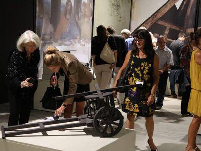 La exposición descubre todos aquellos objetos, artefactos y construcciones ideadas por Leonardo.