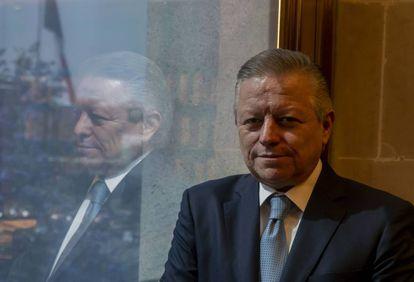 Arturo Zaldívar, ministro presidente de la Suprema Corte de México, posa durante la entrevista.