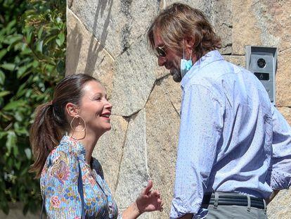 Esther Doña y Santiago Pedraz, en septiembre de 2021 en Madrid.