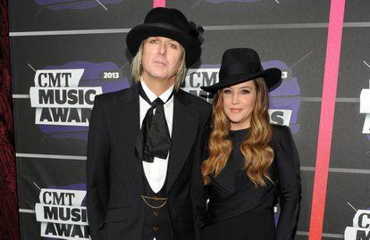 Lisa Marie Presley con su exmarido Michael Lockwood, en 2013.