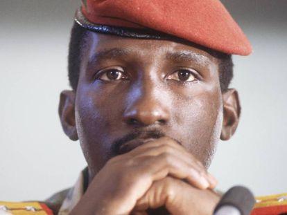 Thomas Sankara en la octava Cumbre de Países no Alineados.