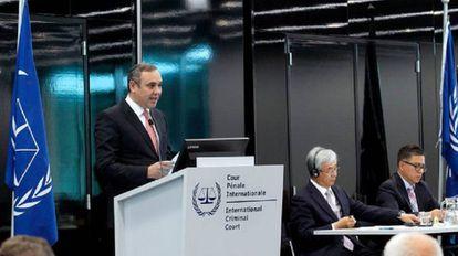 Maikel Moreno, en la Corte Penal Internacional.