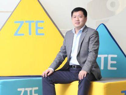 Jacky Zhang, en la sede madrileña de ZTE.