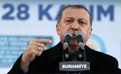 El presidente Erdogan este sábado en Burhaniye.