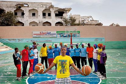 La capitana de la selección femenina de baloncesto, Suweys Ali Jama.