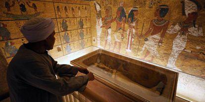 La tumba de Tutankamón, en el Valle de los Reyes, en Luxor, Egipto.