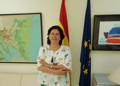 La Embajadora de España en Manuagua, Maria del Mar Fernandez-Palacios.
