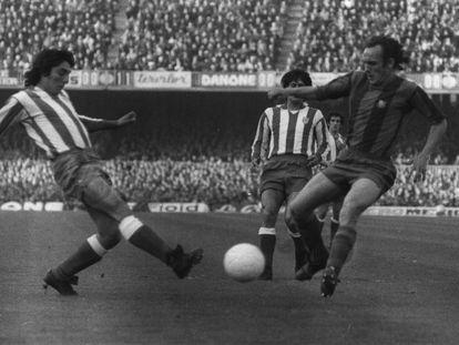 Clares encara a Heredia en el Calderón. Tras él, Benegas e Irureta.