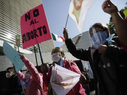Protesta contra el aborto en México 07/09/2021