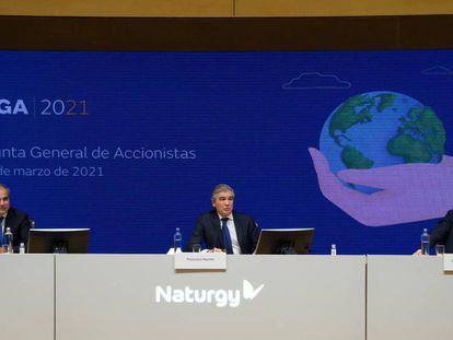 Última junta general de accionistas de Naturgy, celebrada el 9 de marzo pasado y presidida por Francisco Reynés.