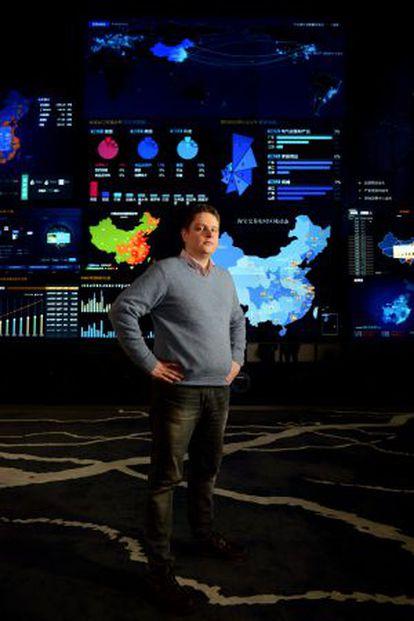 Pello Zuñiga, en la sede de Alibaba en Hangzhou