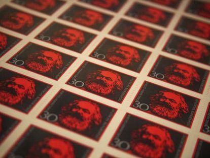Sellos de Karl Marx en el Museo Judío de Berlín.