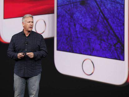 Phil Schiller durante la última presentación de Apple.