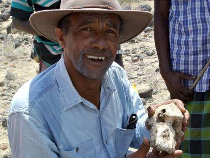 En vídeo, Yohannes Haile-Selassie, director de la excavación, con el cráneo MRD presentado hoy.