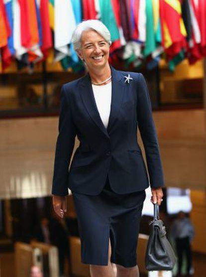Christine Lagarde, directora gerente del FMI en Washington en julio de 2011.