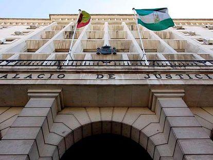 Fachada de la Audiencia de Sevilla.