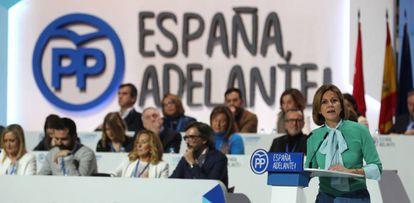 Cospedal, el 10 de febrero, en el congreso del PP.