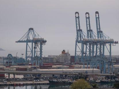 Vista del puerto de Algeciras.