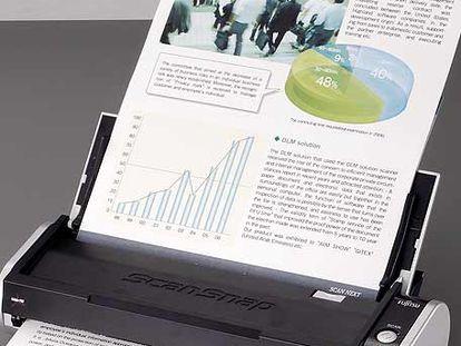 Scansnap S300 de Fujitsu, el  escáner de bolsillo.