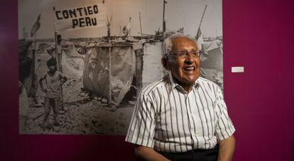 José Matos Mar, en una exposición sobre su obra en Lima, en enero de 2014.