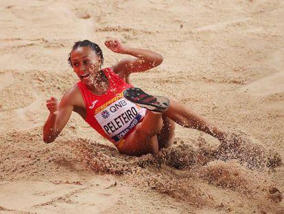 Ana Peleteiro, en la final del triple de este sábado en el Mundial de Doha.