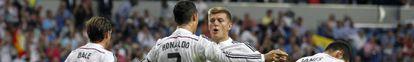 Cristiano y Kroos celebran un gol.