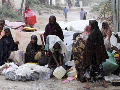 Mujeres desplazadas en la región somalía de Bakool