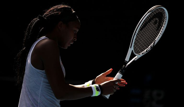 Gauff, durante un partido de la última edición del Open de Australia. / EDGAR SUE (REUTERS)