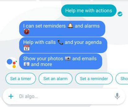 La aplicación de Google ofrece distintas opciones de recordatorios.