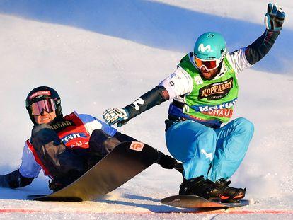 El guipuzcoano Lucas Eguibar se proclama campeón del mundo de boardercross de snowboard en Idre Fjäll, Suecia.