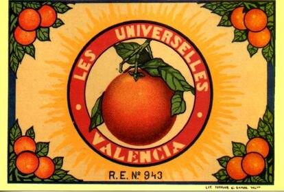 Cartel promocional de las naranjas de Valencia.