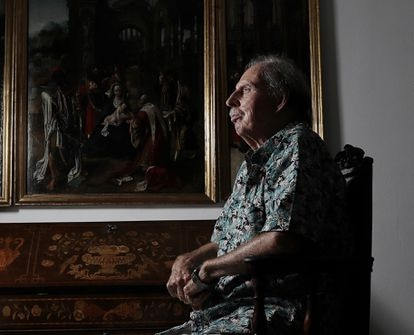 Hans Rudolf Gerstenmaier, en su casa en Madrid en 2019.