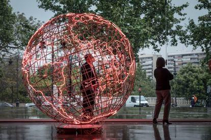Exposición de Mona Hatoum en el IVAM de Valencia, este 2021.