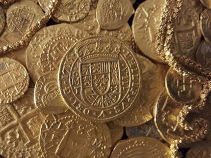 Hallado en Florida un tesoro de 350 monedas españolas de 300 años