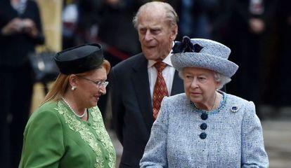 La reina Isabel y Felipe de Edimburgo a su llegada a Malta el pasado 26 de noviembre.
