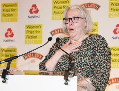 Susanna Clarke gana el Women's Prize for Fiction 2021 por su libro 'Piranesi' en Londres, el 22 de septiembre.