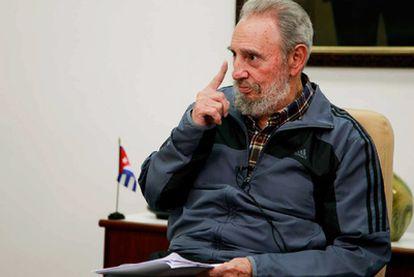 Fidel Castro, durante su intervención en la televisión cubana.
