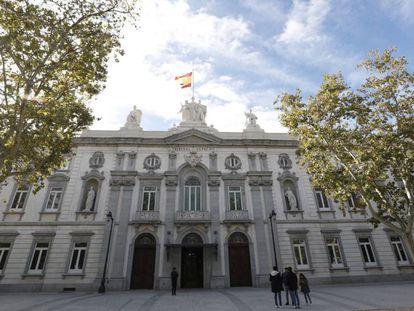 La sede del Tribunal Supremo, en Madrid, en una imagen de archivo.