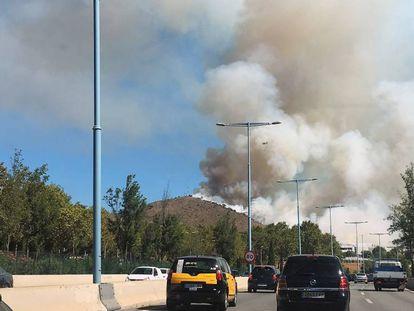 Un incendio en Collserola en septiembre.