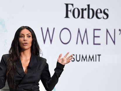 Kim Kardashian, en un evento económico organizado por 'Forbes' en junio de 2017 en Nueva York.