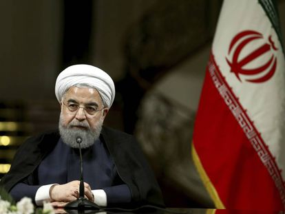 El presidente de Irán, Hassan Rouhani, durante una conferencia de prensa en Teherán, el pasado 4 de octubre.