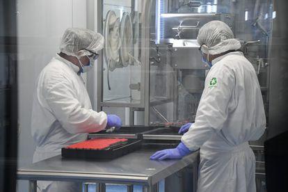 El laboratorio Liomont donde se envasan las vacunas anti-covid-19 de AstraZeneca, en México el 22 de febrero.