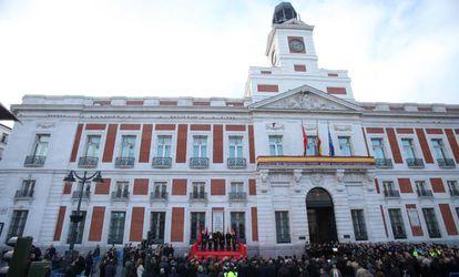 Madrid recuerda a las 193 víctimas del 11 de marzo en un acto en la Puerta del Sol en 2018.