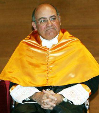 Gerardo Díaz Ferrán cuando fue nombrado honoris causa en la UMH