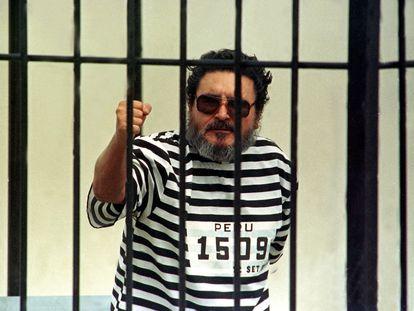 Abimael Guzmán, en prisión tras su captura en septiembre de 1992.
