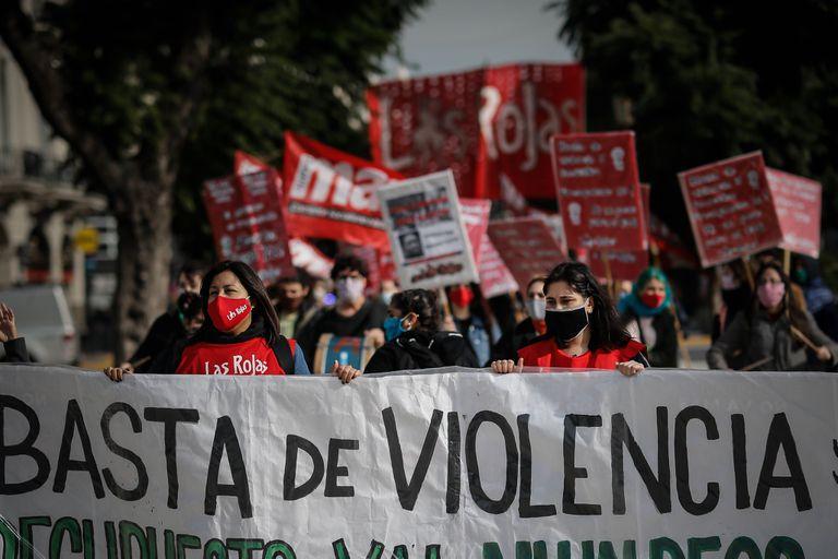 Marcha en Buenos Aires el 3 de junio, en el quinto aniversario de Ni Una Menos contra la violencia machista.