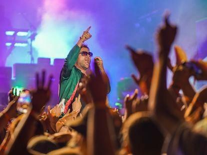 Damon Albarn en el Boardmasters Festival de Newquay el 14 de agosto de 2021.