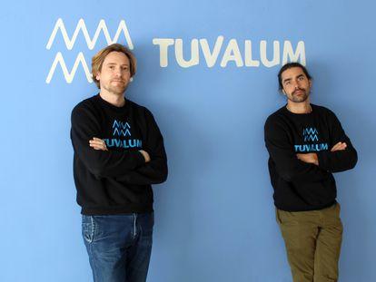 Alejandro Pons e Ismael Labrador (a la izquierda), fundadores de Tuvalum.